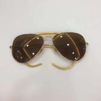 metall beine box großhandel-Luxury-Brand Designer 3030 Sonnenbrille Glaslinse Sport Pilot Sonnenbrille Männer Klassische Sonnenbrille Metallrahmen Glaslinse Besondere Beine mit Box