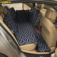 Wholesale car seats carriers for sale - Group buy Dog Carriers Waterproof Rear Back Pet Dog Car Seat Cover Mats Hammock Protector With Safety Belt transportin perro