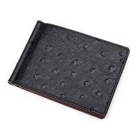 ingrosso portafoglio di struzzo per gli uomini-Fermasoldi da uomo in pelle di velluto a coste con motivo a portafoglio