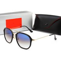 monturas de gafas femeninas al por mayor-RayBan RB4273 Lujosas gafas de sol redondas de lujo para mujer Gafas de sol Mujer Hombre Retro Gafas Gafas Marcos Gafas de sol