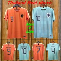 New 2019 Netherlands European Cup jerseys DE JONG VIRGIL PROMES MEMPHIS Football  shirts 19 20 Holland National Team home away Soccer Jerseys 9076a049a