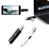 laptops lg venda por atacado-All in one card reader usb 3.1 tipo-c para micro usb 2.0 tf para adaptador de leitor de cartão sd para tablet laptops