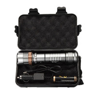batteriekasten camping großhandel-Ekaiou TAC-1 3800 Lumen Zoom einstellbar XM-L T6 LED 18650 Taschenlampen Taschenlampe 1x18650 Batterie + Ladegerät Geschenkboxen