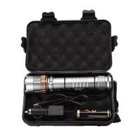 bateria de zoom venda por atacado-Ekaiou TAC-1 3800 Lumens Zoom Ajustável XM-L T6 LED 18650 Lanternas Tocha 1x18650 Bateria + Carregador Caixas De Presente