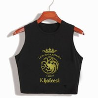 Wholesale sexy games funny for sale - Group buy I m Not A Princess I m A Khaleesi Womens Summer Crop Tops Game Of Thrones Cotton T shirts Funny s Sexy Movie Cropped T Shirt Y19042801