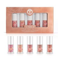 Wholesale pink lip tint online - O TWO O Lip Tint Set Moisturizing Lip Gloss Long Lasting Liquid Blusher Makeup Matte Lipstick Liquid Lips Kit sets DHL
