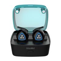 hece kablosuz bluetooth kulaklık toptan satış-Orijinal SYLLABLE D900S Gerçek Kablosuz Stereo bluetooth 4.0 kulaklık gürültü azaltma kulaklık sweatproof Android IOS için kulakiçi
