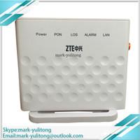 zte one venda por atacado-5 pcs Original ZTE GPON FTTH ONT ZXA10 F601 Terminal ou FTTO GPON onu com Um GE Ethernet Port, Versão Inglês.