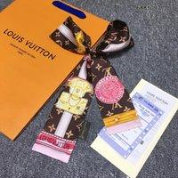 noeuds en tissu pour les cheveux achat en gros de-Nouveau designer de luxe de haute qualité imité tissu de soie ruban multifonctionnel foulard noeud papillon cheveux sac à main sac Livraison gratuite