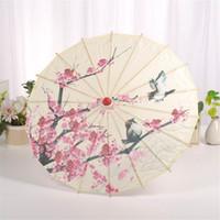guarda-chuvas de arte chinesa venda por atacado-Mnycxen Guarda-chuva de Arte Chinesa de Seda Guarda-chuva Estilo Clássico Papel De Óleo Decorativo Pintado Parasol A20