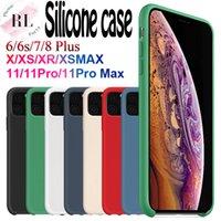 ingrosso imballaggio liquido-Custodia in silicone per iPhone OEM 11 pro 6 Custodia in silicone 7 8 Plus X XS X Max Liquid con il marchio e l'imballaggio al dettaglio