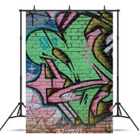 Wholesale backgrounds for portrait photography online - comic graffiti Vinyl photography background for portrait children baby shower new born backdrop photo shoot photocall