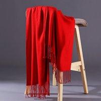 ingrosso signore scialli di primavera-Lusso Lettera sciarpa del modello donne sciarpa del cotone di seta del progettista dello scialle della sciarpa signore della molla Sciarpe