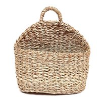 Wholesale hanging basket for plants for sale - Group buy Plant Bins Handmade Woven Hanging Basket Natural Straw Grass Ee Water Wall Basket for Home Garden Wall Decor Ee Wedding