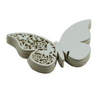 Wholesale butterfly card shapes for sale - Group buy 50 Wedding Party Table Paper Place Card Butterfly Shaped Place Escort Cup Wine Glass Laser Cut Paper For Wedding Decoration