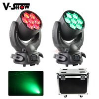 Wholesale wash moving head case resale online - 2pcs with case X40W Beam wash Zoom Moving Head Light RGBW Stage Light LED Beam Wash lights with DMX for Family Party