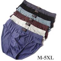 Wholesale underpants l size online - Mens Cotton Briefs Breathable Soft Underpants Mens Underwear Solid Color Fashion Briefs Plus Size M XL Hommes Everyday Underwear