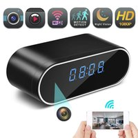 spy camera оптовых-Скрытая шпионская беспроводная камера, 1080P часы Скрытая камера беспроводного IP-видеонаблюдения для домашней безопасности