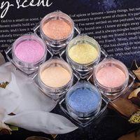 Wholesale color powder polish for sale - Group buy 6 Colors Metallic Color Nail Art UV Gel Polishing Chrome Flakes Pigment Dust Decorations Manicure Tool Nail Glitter Powder