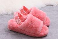 Wholesale black booties for women for sale - 2019 ug gvelvet slippers fashion elements wide version elastic heel strap design comfortable slipper size for women to eur
