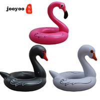 anillo de baño blanco al por mayor-Nueva Moda Caliente Blanco y Negro Swan Swim Ring Adulto Grueso Agua Círculo Forma Animal Flotador jooyoo
