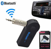 Wholesale Wireless AUX Bluetooth Receiver for Car Headphone Speaker mm Bluetooth Audio Music adapter Jack with Mic Retail Packagehigh quality