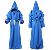 ingrosso vestito medioevale-19ss Halloween cosplay del costume dei vestiti di progettista medievale monaco monaco veste il costume della strega del sacerdote del costume Cristo