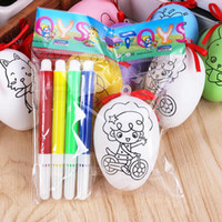 Wholesale painted easter eggs for sale - Group buy Easter children s toys handmade diy painted Easter eggs painting color simulation eggs children s educational doodle toys Report