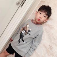 filles hoodies gratuit achat en gros de-Livraison gratuite Toddler Boy Vêtements Bébé Fille 100% Coton Sweats Enfants 2019 Nouvel Automne Printemps À Capuche Tops
