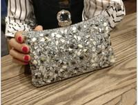 Wholesale party envelope purse resale online - Clutch Bags Women Luxury Evening Party Purse Box Bag Diamond Female Clutch Crystal Day Wallet Wedding Purse