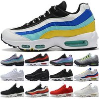 ingrosso aqua in esecuzione-Nike Air Max 95 Uomo Donna 95 95s What The Running Shoes OG Neon Grape Triple Nero Bianco TT University Red Fashion Trainer Sport Sneakers Taglia 36-46