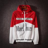mens spring spor katları toptan satış-Yeni Ceketler Erkek Kadın Rüzgarlık Ile Mektuplar Bahar Uzun Kollu Fermuar Spor Ceket Erkek Döküntü Muhafızları Mont 3 Renkler