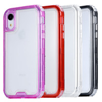 Wholesale pink iphone case clear silicone for sale - Phone Case For Iphone Xr Clear in1 Heavy Duty Full Body Protection Cover Phone Case for iPhone Xr Xs Max