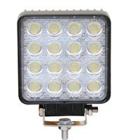 Wholesale utv headlights for sale - Group buy 16LEDs W SUV Headlights K White Color Light Bar Vehicle Work Light LED Truck Pod Light for SUV UTV ATV