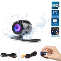 câble ntsc achat en gros de-50pcs Caméra de recul étanche Vue arrière de la caméra HD Caméra inversée Auto Parktronic Angle de vue universel avec 6 m de câble vidéo