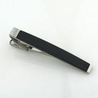clips de corbata al por mayor-Recién llegado Moda acero inoxidable con barra de goma para hombres hombres de negocios clip de corbata sin caja