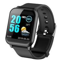 reloj táctil inteligente al por mayor-Fitness Watch Men Monitor de ritmo cardíaco Podómetro Smart Watch Hombres Mujeres Deportes Bluetooth Touch Relojes inteligentes para Ios Android Teléfono Y19052103