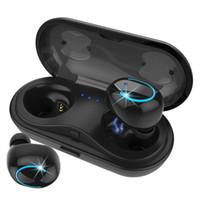 bluetooth kulaklık gürültü engelleme toptan satış-HBQ Q18 TWS MINI Kablosuz Kulaklık Bluetooth Gürültü Iptal Kulaklık Telefon Kulaklık Kulaklık Mikrofon Ile iPhone Için Şarj Durumda X Xr