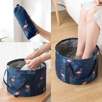 Wholesale footbath for sale - Group buy Best selling collapsible basin portable travel laundry basin footbath outdoor travel supplies household cleaning tool bucket SZ337