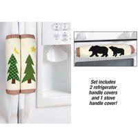 Wholesale kitchen tool utensil set resale online - Snowman Kitchen Utensils Gloves Christmas Decoration Kitchen Tools Microwave Oven Door Refrigerator Handle Set Christmas Supplie