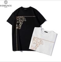 ingrosso zanne animali-T-shirt da uomo girocollo T-shirt da uomo in cotone casual da uomo di alta moda