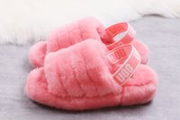 rosa samtentwürfe großhandel-2019 ug-hochwertigen Modetrend einzigen Samt Sandalen und Hausschuhe Design wechseln, lässige Hausschuhe, weich und bequem 36-41