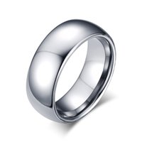 bestellen mode porzellan großhandel-Kann Auftrag Silber Mode Einfache Männer Ringe Wolfram Stahl Ring Schmuck Geschenk für Jungen Männer J001