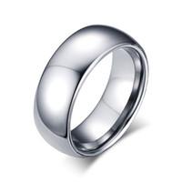encomenda moda china venda por atacado-Pode Misturar Ordem de Prata Moda Simples dos homens Anéis De Aço De Tungstênio Anel de Presente Da Jóia para Meninos Homens J001