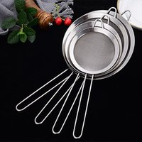 Wholesale fine strainer for sale - Group buy Stainless Steel Wire Fine Mesh Oil Strainer Flour Handheld Sifter Sieve Colanders Filtering Kitchen DIY Cooking Tools