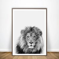 Wholesale animal art painting photos for sale - Group buy Black and White Animal Lion Art Decor Canvas Painting Wall Picture Safari Lion Photo Art Prints And Poster Modern Home Decor