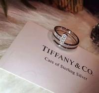 halka için rose hediye kutusu toptan satış-T lüks yüzükler ayarlanabilir yüzük ÇIFT T İKI aşk hediye ünlü tasarımcı takı ile 925 ayar gümüş gül altın nişan alyans kutusu