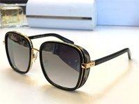 perlenrahmen großhandel-New fashion damen designer sonnenbrille elva platte metall kombination rahmen brille trend fash perlen design top qualität uv400 schutz