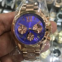 Wholesale m luxury case for sale - Group buy 2 types mm mm M silver case blue dial quartz watches chronograph stop watch K suit both men women with all sub dials works second hand