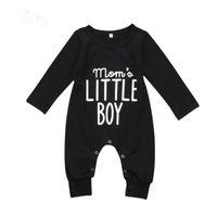 neue mode insgesamt baby großhandel-Brand New Fashion Neugeborenes Kleinkind Baby Jungen Strampler Langarm Overall Overall Little Boy Outfits Schwarze Kleidung